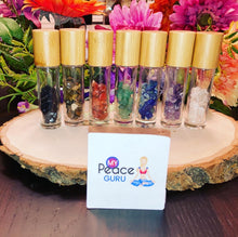 Load image into Gallery viewer, Chakra Healing Kit Lavender Essential Oil Chip Roll-On Bottles Gift Idea