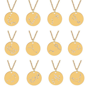 Beautiful Constellation Astrology Necklace For Every Zodiac Sign Unisex