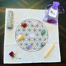 Load image into Gallery viewer, 7 Chakra Flower Of Life Attract Healing Grid Kit Law of Attraction Gift Set