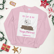 Load image into Gallery viewer, My Cat is My Yoga Partner Sweatshirt