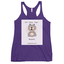 Load image into Gallery viewer, Eat. Sleep. Yoga. Repeat. Women's Racerback Tank