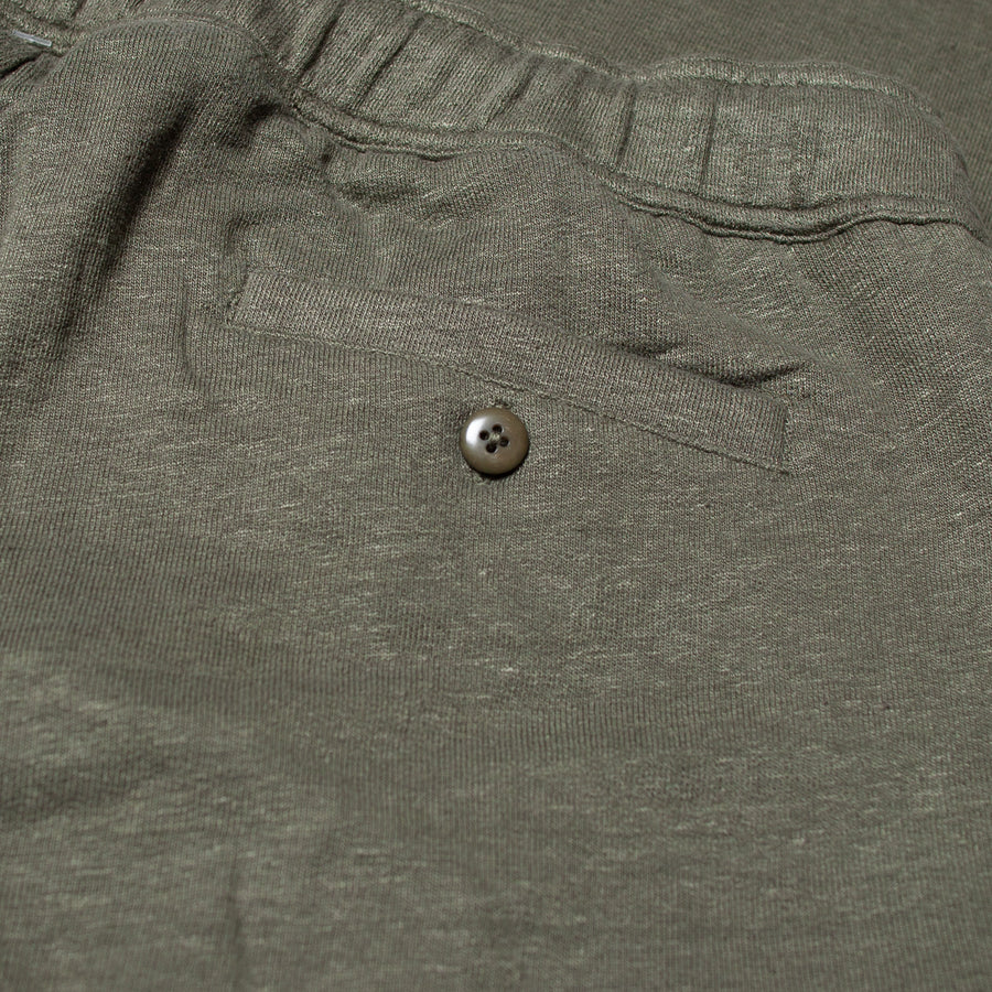 LINEN LEISURE PANTS OLIVE GREEN