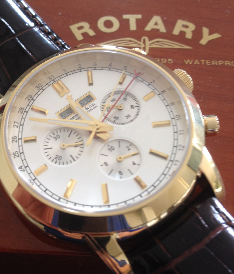 only 2 in the world  This gents Rotary Dreyfuss & Co  Prototype Chronograph Mens  watch  never  went into production