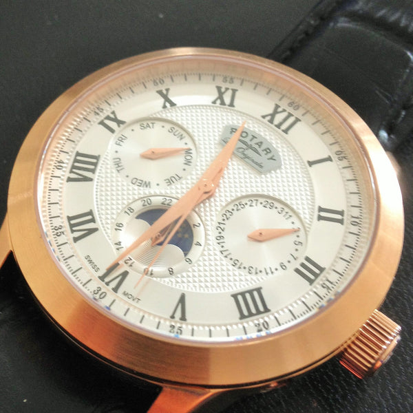 001   This gents Rotary  Men's  Moon phaze watch   the  first  one  that was  ever made  Automatic