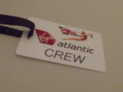 Novelty Luggage Crew Tags - Virgin Atlantic Crew, White -  Inflightgoods