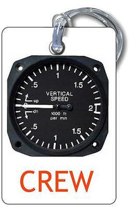 Vertical Speed Indicator (VSI) Luggage  Tag  ..
