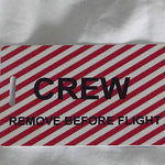 Novelty striped  remove before flight luggage tags -  Inflightgoods   - 4