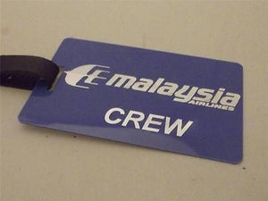 Novelty Luggage Crew Tags - Blue, Malaysia Airlines Crew -  Inflightgoods