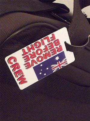 Novelty Luggage Crew Tags - Australian Remove Before Flight -  Inflightgoods