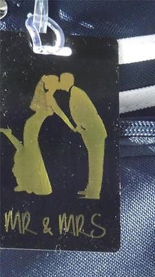 Novelty  LUGGAGE TAGS MR&MRS KISSING GOLD -  Inflightgoods