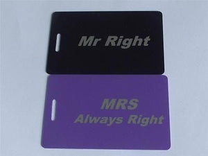 Novelty MR RIGHT /MRS ALWAYS RIGHT  LUGGAGE Tagg -  Inflightgoods   - 1