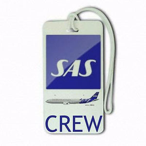 scandinavian airlines e 2Tag Airports,in pilots.Cabin Crew LUGGAGE  TAG -  Inflightgoods