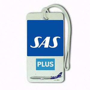 scandinavian airlines plus  Airports,in pilots.Cabin Crew LUGGAGE  TAG -  Inflightgoods
