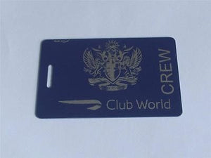 Novelty CREW LUGGAGE Tagg  BRITISH AIRWAYS CLUB WORLD BLUE SILVER  CREW -  Inflightgoods   - 1