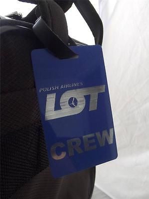 Novelty Luggage Crew Tags - Blue, Polish Airlines Crew -  Inflightgoods