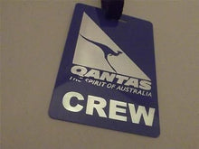 Novelty Luggage Crew Tags - Qantas Airlines Crew (Blue/Silver)
