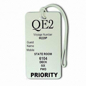 Novelty  Luggage  QE2 Priority Cruise Liner Tag x 5 -  Inflightgoods
