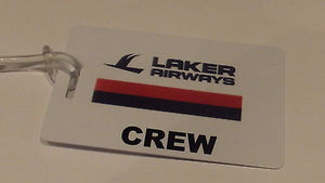 Novelty LAKER AIRWAYS CREW LUGGAGE TAG -  Inflightgoods   - 1