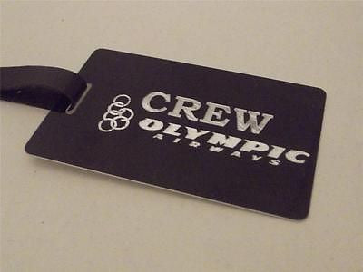 Novelty Luggage Crew Tags - Black, Olympic Airways Crew -  Inflightgoods