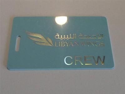 Novelty CREW LUGGAGE Tagg  Libyan Wings  Crew -  Inflightgoods   - 1