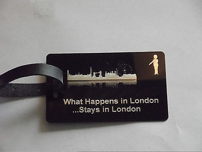 Novelty Luggage Crew Tags - WHAT HAPPENS IN LONDON STAYS .LONDON,NEW YORK,ECT -  Inflightgoods   - 8