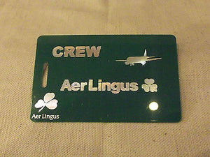 Novelty Luggage Crew Tags  AIR LINGUS  Various Colours -  Inflightgoods   - 1