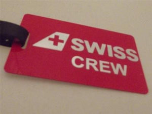 Novelty Luggage Crew Tags - Swiss Crew -  Inflightgoods