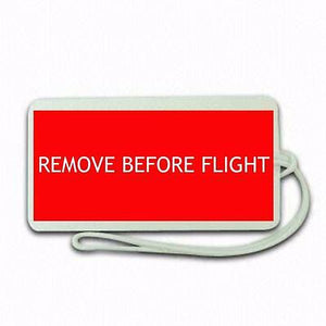Remove before Flight  Tag Airports,in pilots.Cabin Crew LUGGAGE  TAG -  Inflightgoods