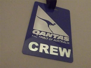 Novelty Luggage Crew Tags - Qantas Airlines Crew (Blue/Silver) -  Inflightgoods