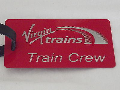 Novelty  Virgin Trains   luggage tags FIRST CLASS < CREW -  Inflightgoods   - 5