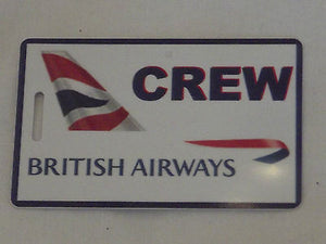 Novelty Luggage Crew Tags  British airways first class , crew  ect -  Inflightgoods   - 7