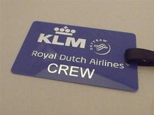 Novelty Luggage Crew Tags - Blue, Royal Dutch Airlines Crew