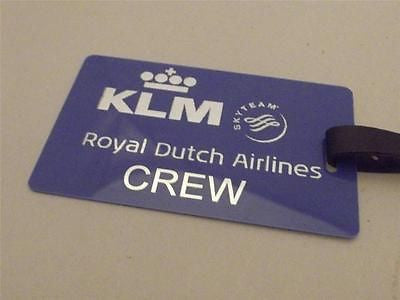 Novelty Luggage Crew Tags - Blue, Royal Dutch Airlines Crew -  Inflightgoods