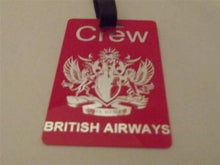 Novelty Luggage Crew Tag - Red, British Airways, To Fly to Serve