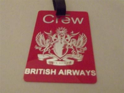 Novelty Luggage Crew Tag - Red, British Airways, To Fly to Serve -  Inflightgoods