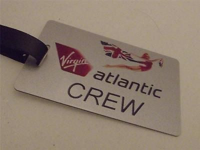 Novelty Luggage Crew Tags - Virgin Atlantic Crew, Silver, Style 3 -  Inflightgoods