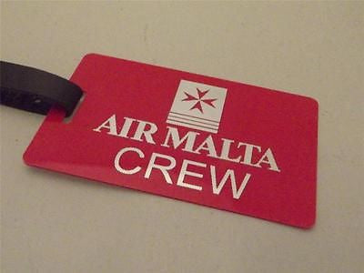 Novelty Luggage Crew Tags - Air Malta Crew -  Inflightgoods