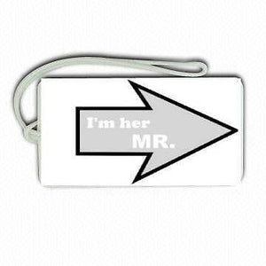 Novelty  LUGGAGE TAGS  MR& MRS GRAY -  Inflightgoods