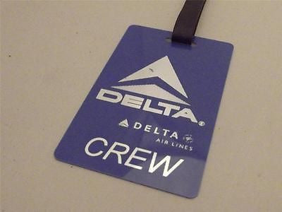 Novelty Luggage Crew Tags - Delta Airlines Crew -  Inflightgoods