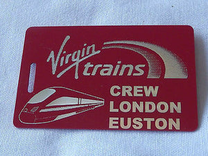 Novelty  Virgin Trains   luggage tags FIRST CLASS < CREW -  Inflightgoods   - 2