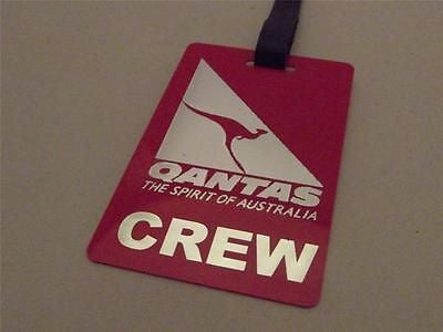 Novelty Luggage Crew Tags - Qantas, Red, The Spirit of Australia -  Inflightgoods