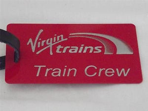 Novelty  Virgin Trains   luggage tags FIRST CLASS < CREW -  Inflightgoods   - 3