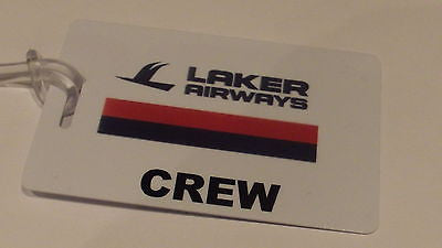Novelty LAKER AIRWAYS CREW LUGGAGE TAG -  Inflightgoods   - 2