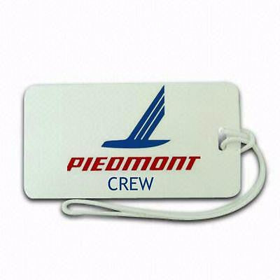 Piedmonr Airline  luggage tags crew.airports .airline crew