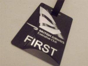 Novelty Luggage Crew Tags - British Airways Executive Club, Black/Silver -  Inflightgoods
