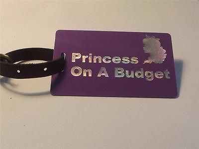 Novelty CREW LUGGAGE  Princess On A Budget -  Inflightgoods   - 1