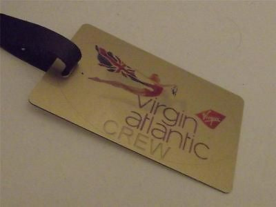 Novelty Luggage Crew Tags - Gold, Virgin Atlantic Crew -  Inflightgoods
