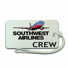 Novelty SOUTH WEST  AIRLINES   AIRWAYS Luggage tag   Crew  ,Airplane -  Inflightgoods