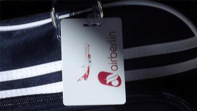 NOVALTY LUGGAGE TAG AIR BERLIN WHITE Airline Airplane -  Inflightgoods