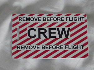 Novelty striped  remove before flight luggage tags -  Inflightgoods   - 2